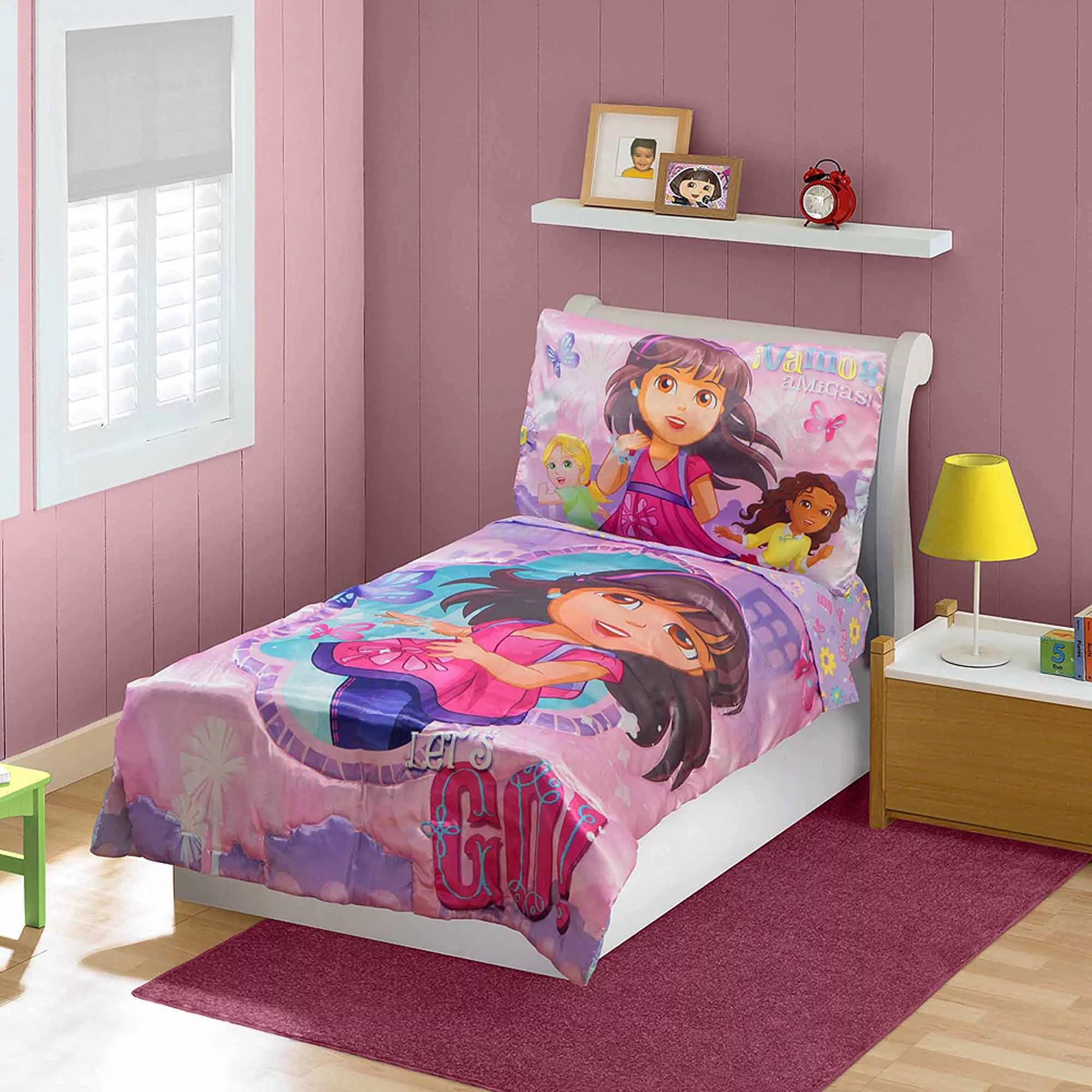 Dora Amp Friends 3 Piece Toddler Bedding Set With Bonus