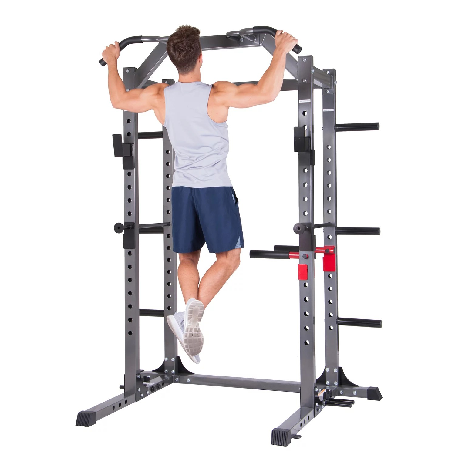 body power deluxe rack cage accessories safety bars floor mount anchors