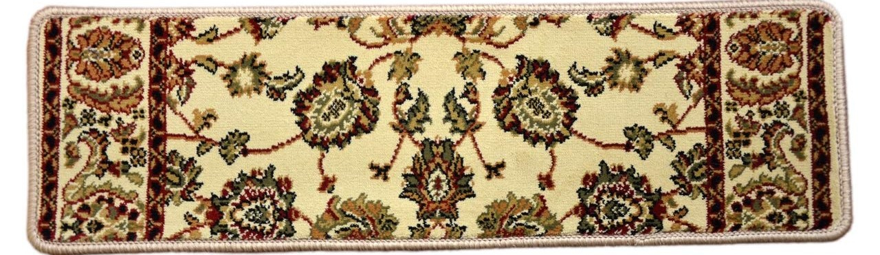 Dean Premium Carpet Stair Tread Rugs Elegant Keshan Antique 31 | Dean Premium Carpet Stair Treads | Keshan Chocolate | Classic Keshan | Gripper Tape | Friendly Diy | Nylon Carpet