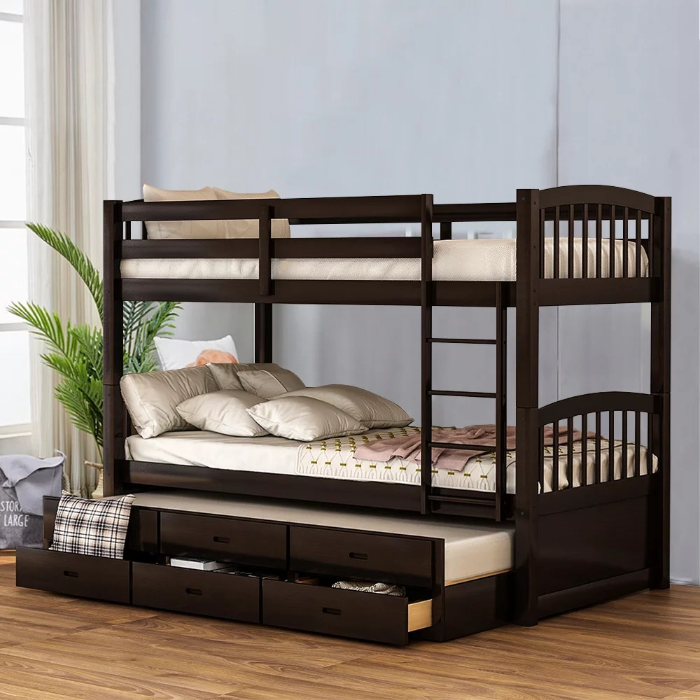 clearance bunk beds with trundle bed and drawers twin on walmart bedroom furniture clearance id=72090