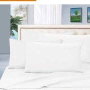 Hotel Luxury 1500 Thread Count Egyptian Quality Sheet Set California King Twin White