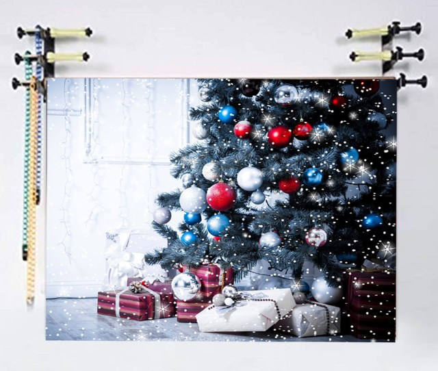 Nk Home Xft Christmas Backdrop Indoor Christmas Tree And Snowflake Backdrops With Christmas Snow Photography Background