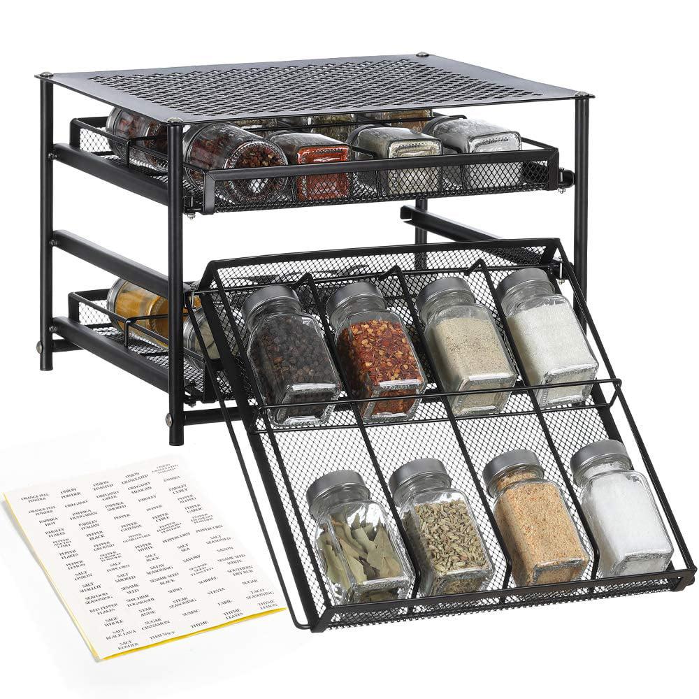 24 bottle spice rack organizer 3 tier