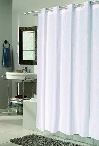 n y home extra wide extra long fabric shower curtain liner 108 x 84 inch hotel quality washable white spa bathroom curtains with grommets 108x84