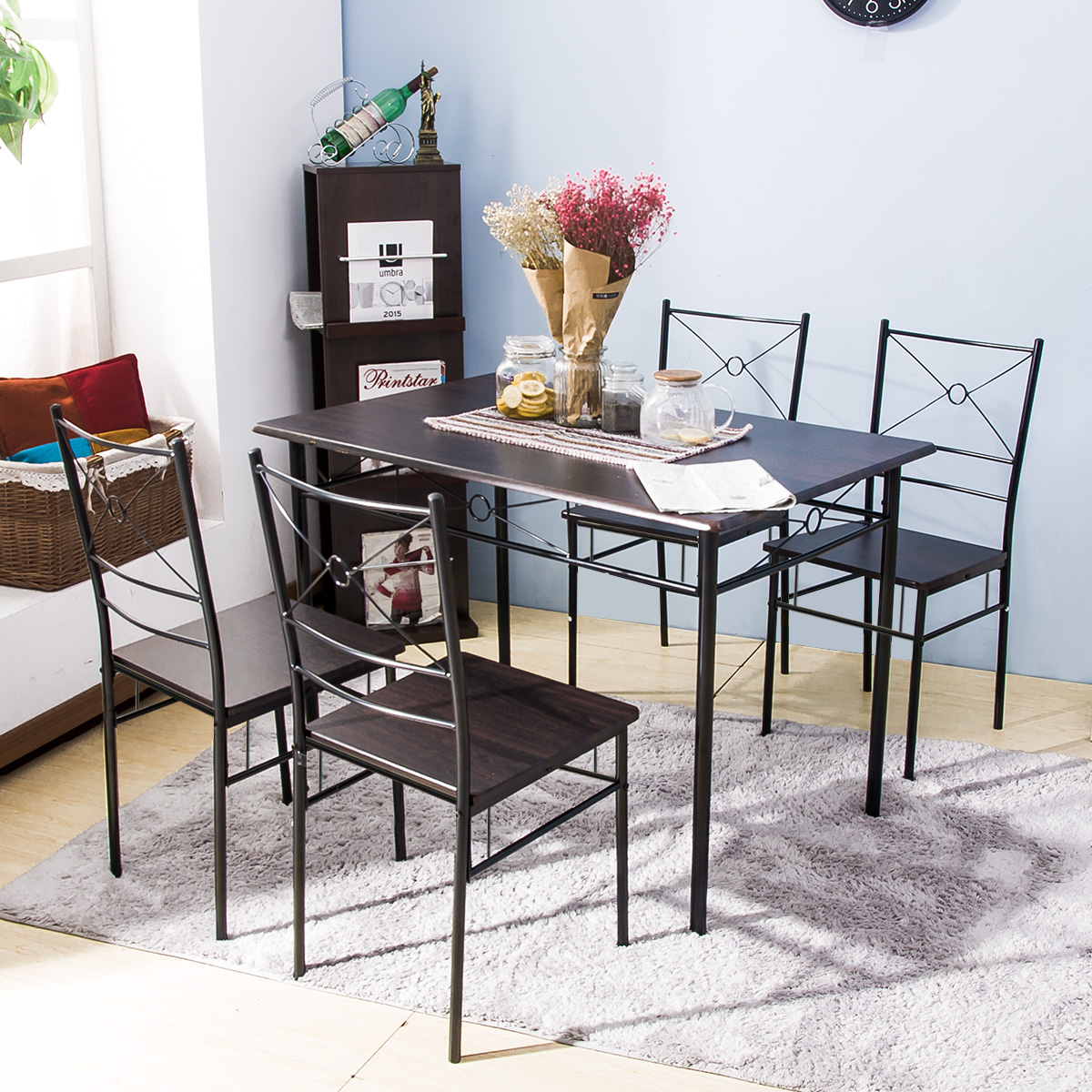 clearance 5 piece dining table set segmart modern wooden on dining room sets on clearance id=72197