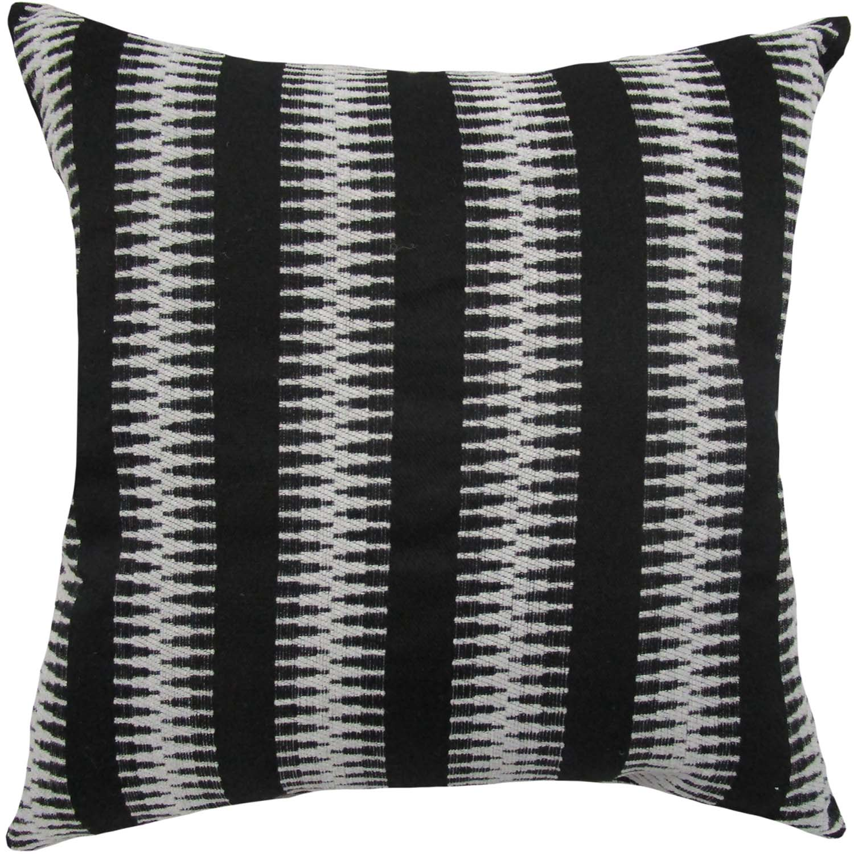better homes gardens zig zag stripe decorative throw pillow 18 x 18 black and white