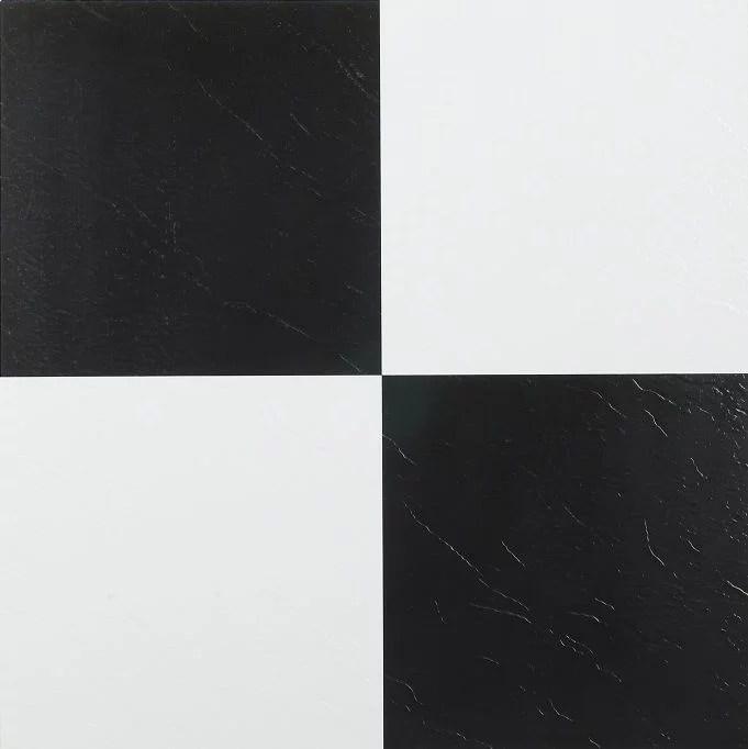 achim nexus 12 x12 1 2mm peel stick vinyl floor tiles 20 tiles 20 sq ft black white