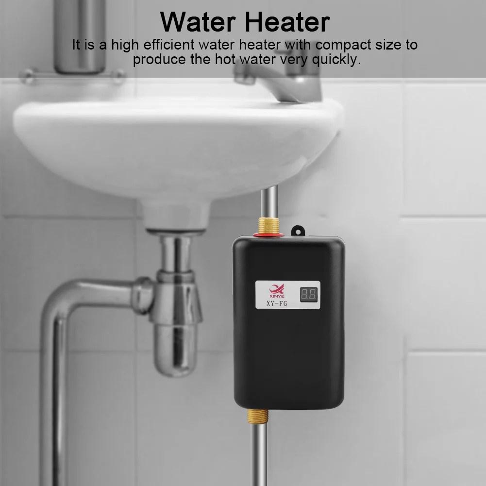 Water Heater Hurrise 110v 3000w Mini Electric Tankless Instant Hot Water Heater Bathroom Kitchen Washing Us Walmart Com Walmart Com