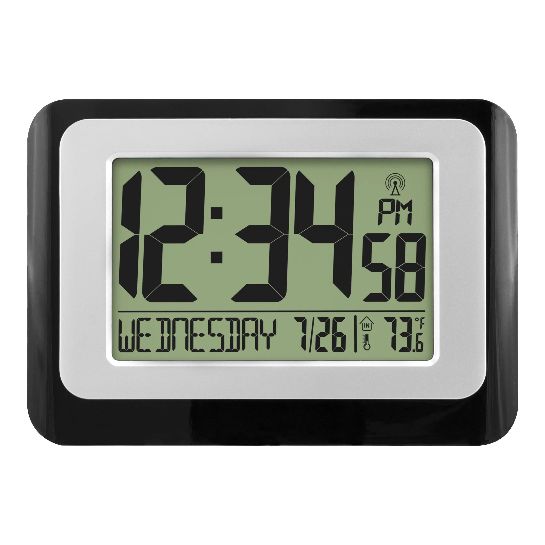 Digital Atomic Calendar Clock With Indoor Temperature