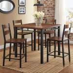 Better Homes Gardens Austen 5 Piece Counter Height Dining Set Vintage Oak Walmart Com Walmart Com