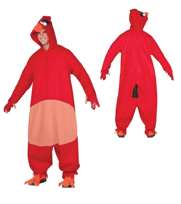 Adult Red Angry Birds Cozy Jumpsuit Costume Walmartcom