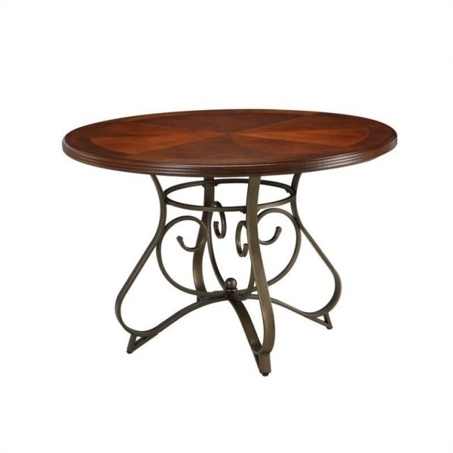 Powell Furniture Hamilton Dining Table in Brushed Medium Cherry Wood