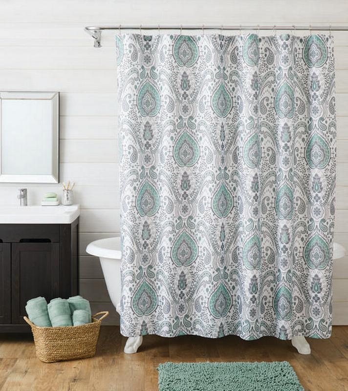 better homes gardens 14 piece damask shower curtain set