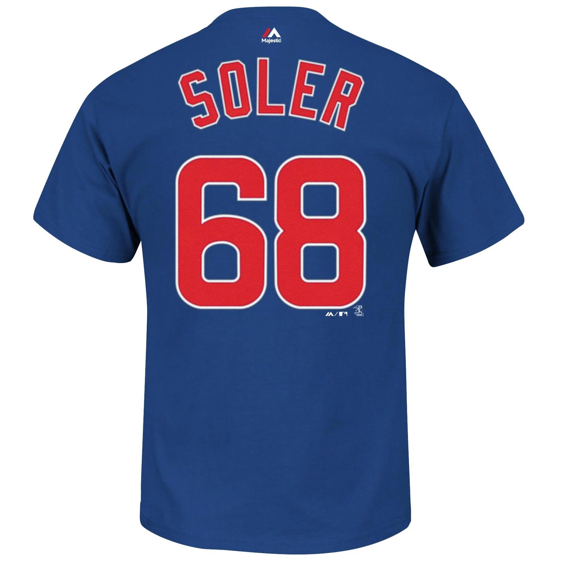 Chicago Cubs Jorge Soler MLB Player Name & Number T-Shirt ...