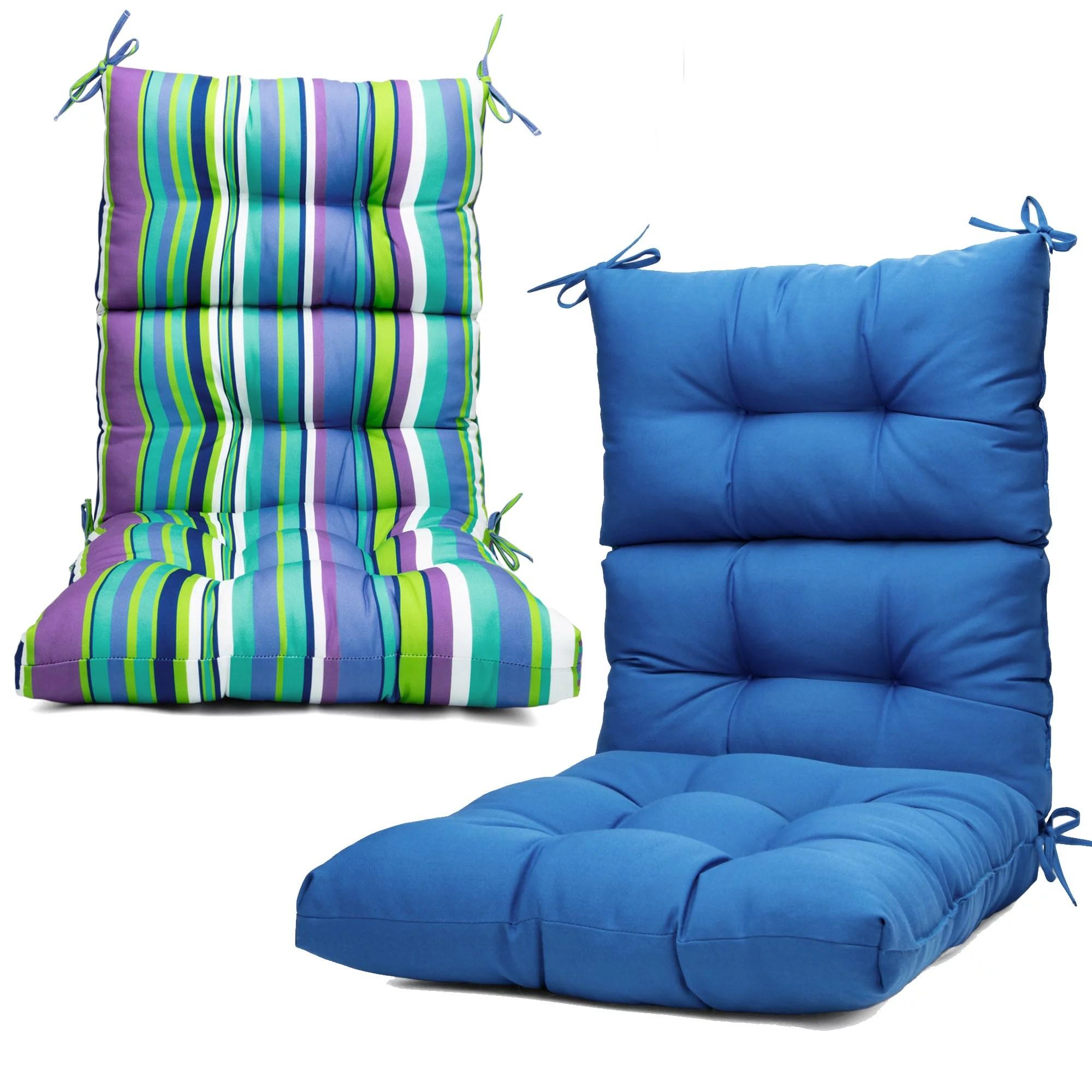 2pcs 44x21 inch solid chair cushion