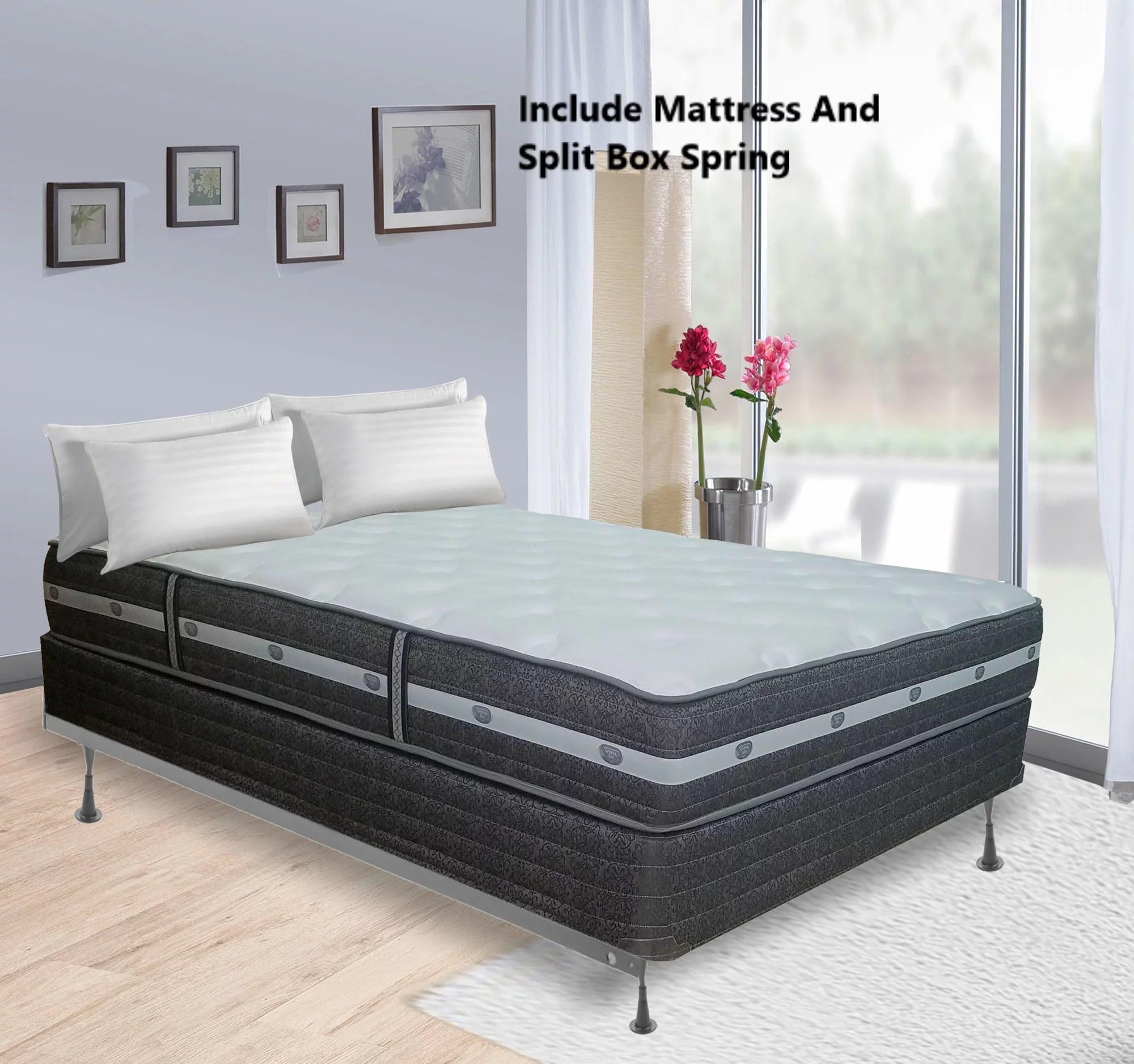 continental sleep 11 inch fully assembled innerspring mattress and 8 split box spring full size walmart com