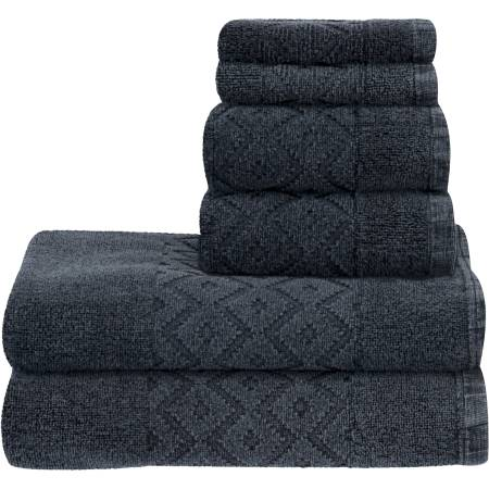 Better Homes & Gardens 6-Piece Towel Set - Stone Wash