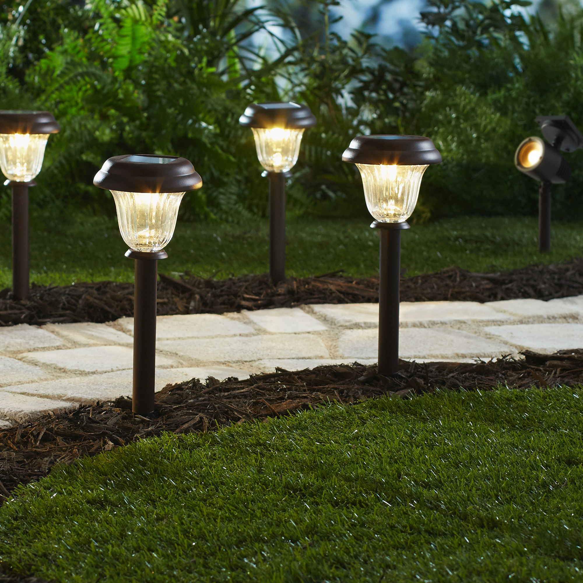 Mainstays Solar Led Pathway Lights
