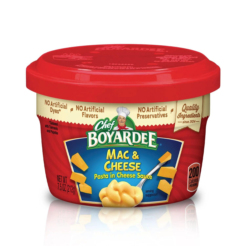 chef boyardee macaroni and cheese microwave pasta 7 5 oz walmart com