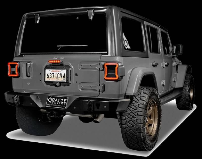 oracle lighting jeep wrangler jl smoked lens led third brake light 5854 504