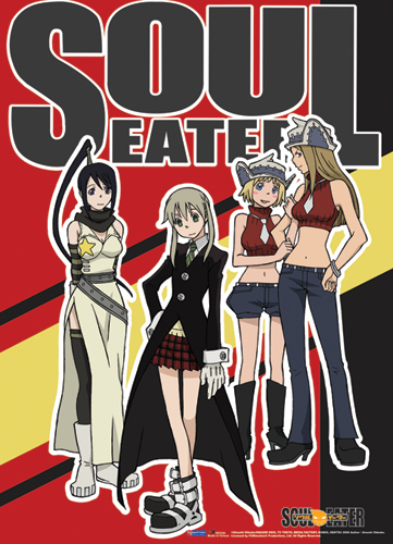 wall scroll soul eater new leading ladies fabric poster art licensed ge5320