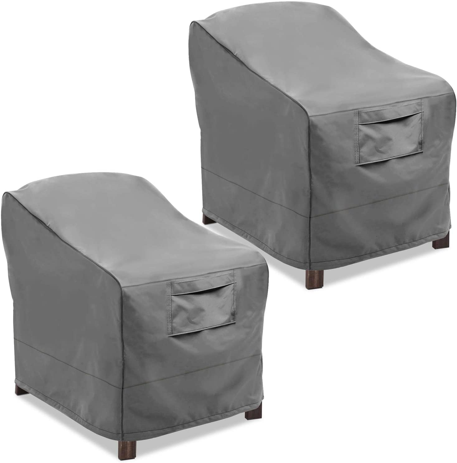 vailge patio chair covers lounge deep seat cover heavy duty and waterproof outdoor lawn patio furniture covers 2 pack medium grey walmart com