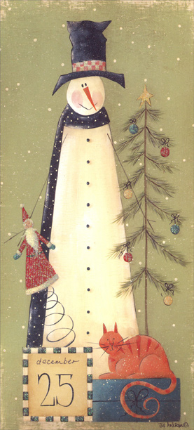 LPG Greetings December 25 Snowman Jill Ankrom Tall Format