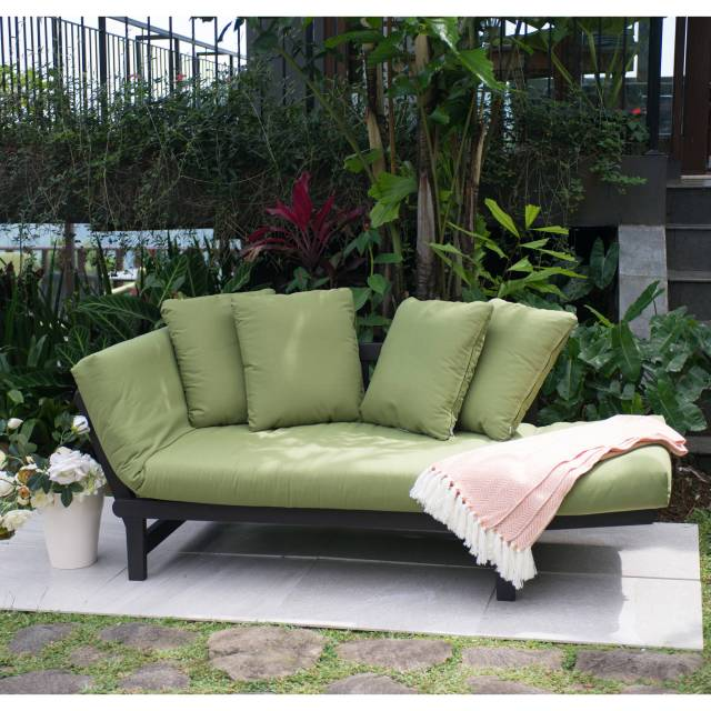 better homes and gardens delahey outdoor daybed with cushions