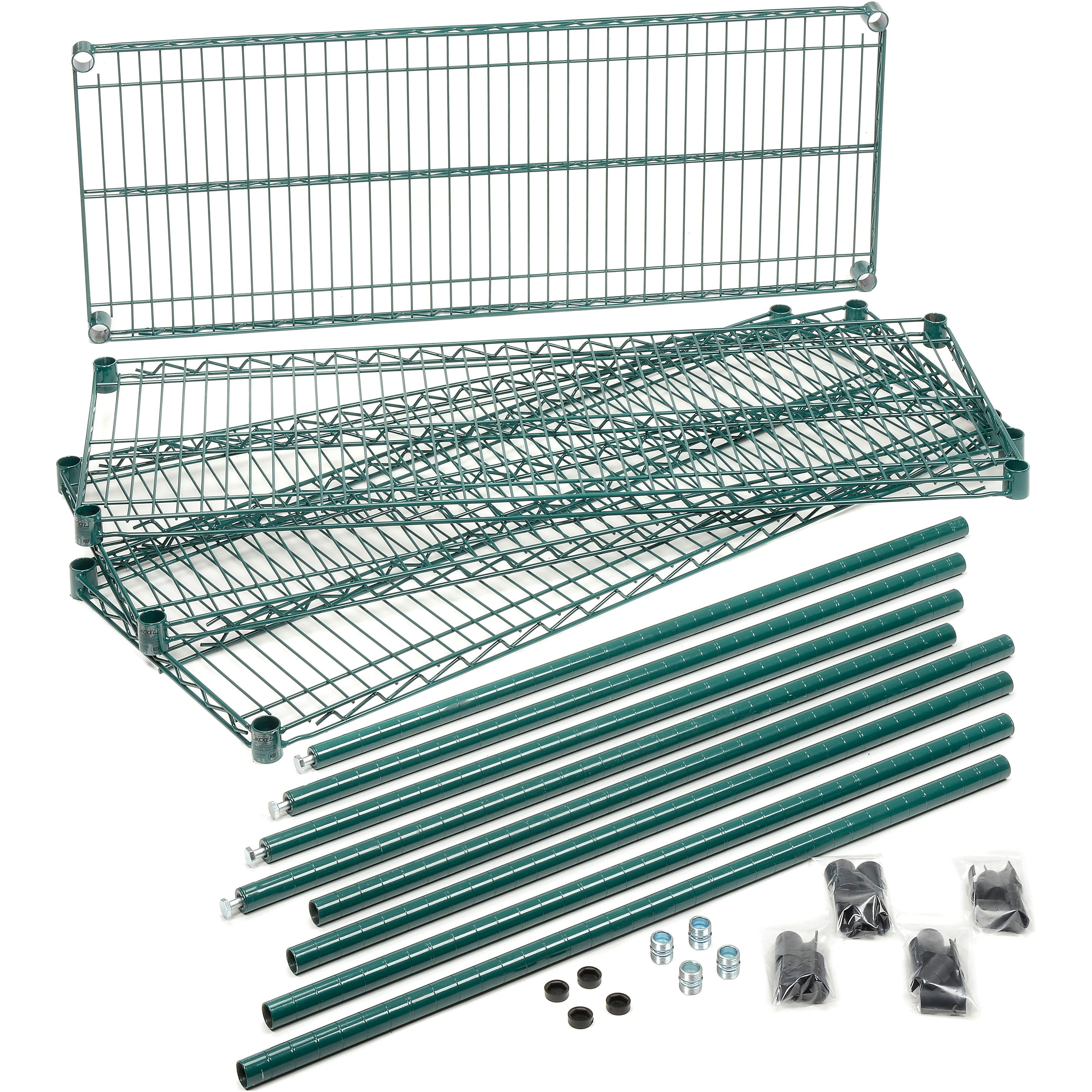 Nexel Wire Shelving Unit Multiple Sizes Available Green