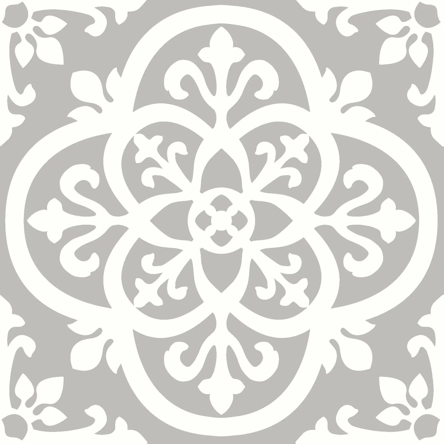 floorpops medina 12 in x 12 in peel and stick virgin vinyl floor tiles 10 pack