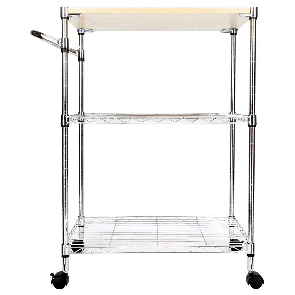 ubesgoo microwave cart on wheels 3 tier rolling kitchen cart baker rack with locking wheels for living room dorm