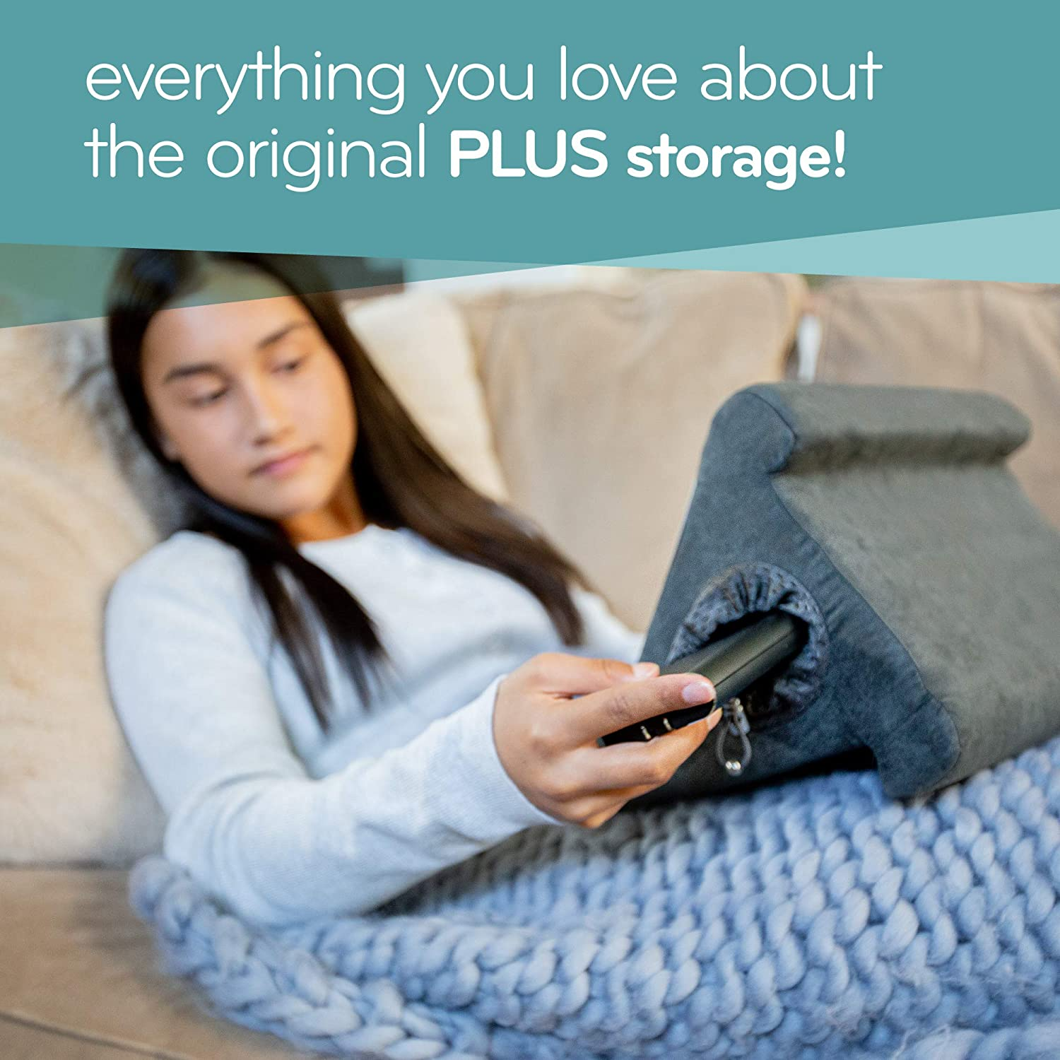 the original flippy cubby multi angle soft pillow lap stand for ipads tablets ereaders smartphones books magazines