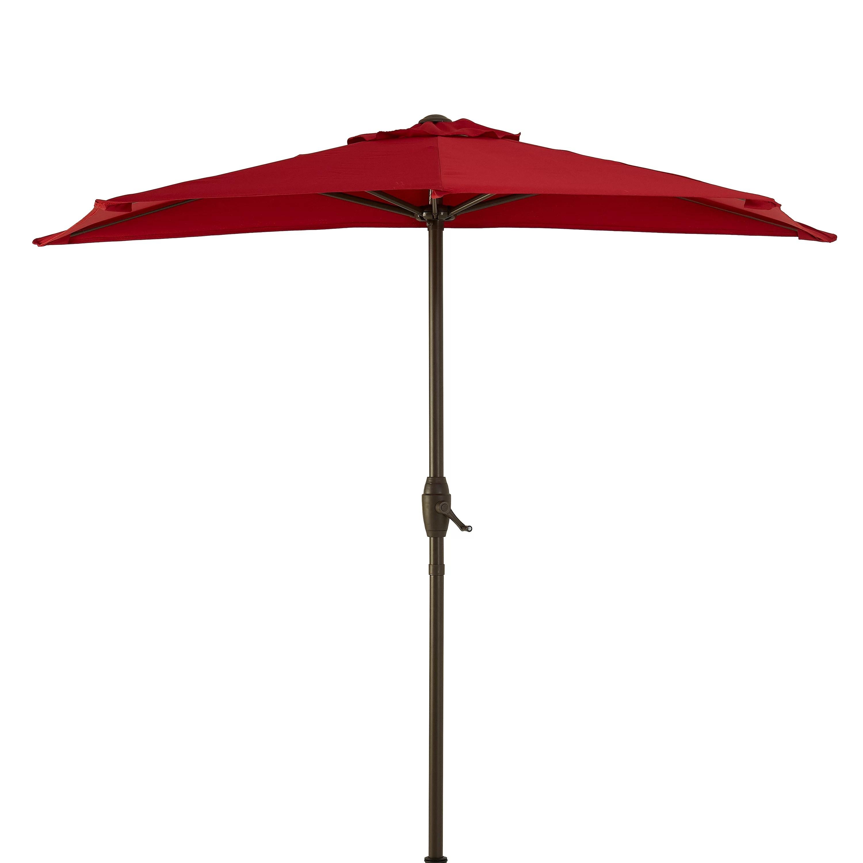 mainstays hillwood 7 red half round patio umbrella