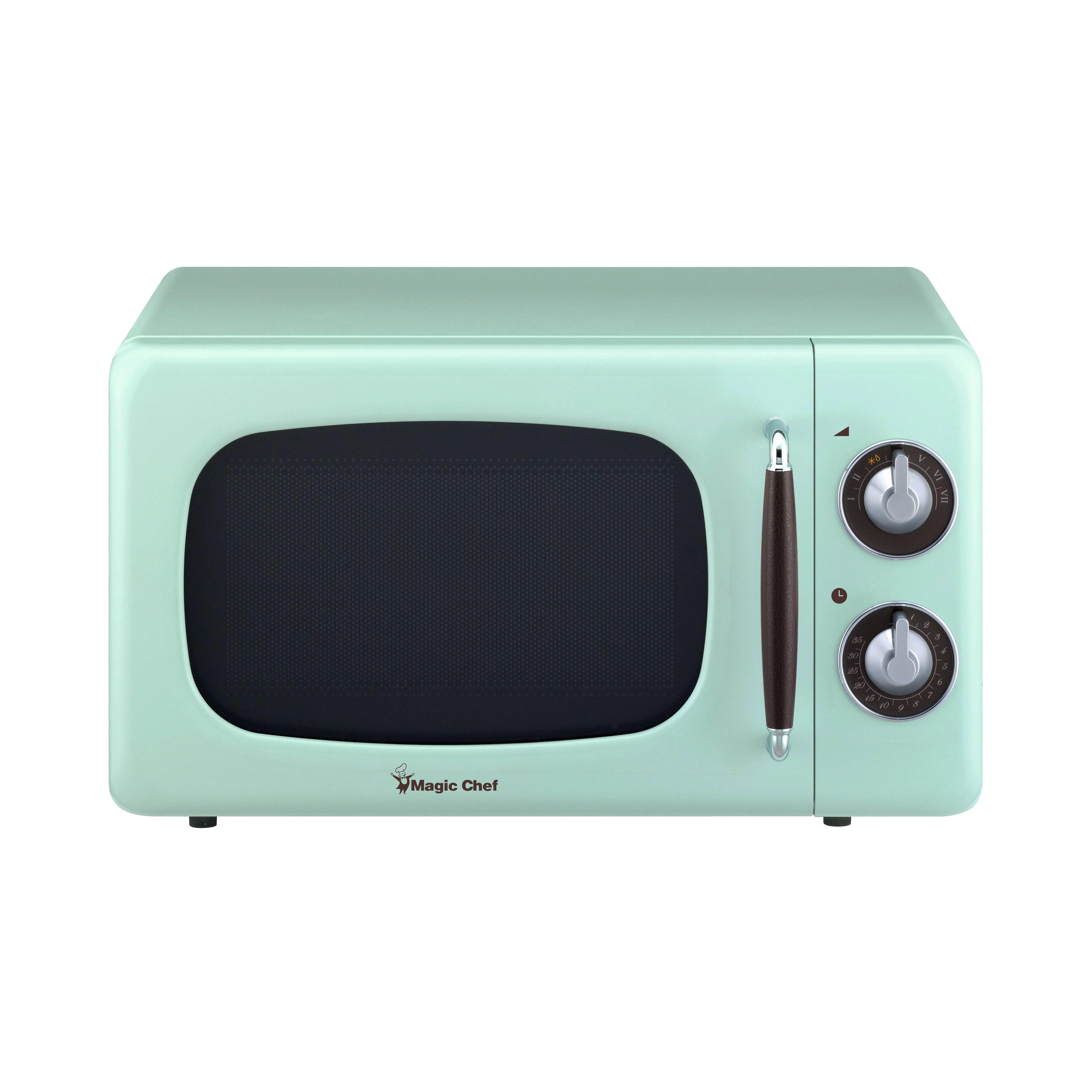 0 7 cu ft 700 watt countertop microwave in mint green