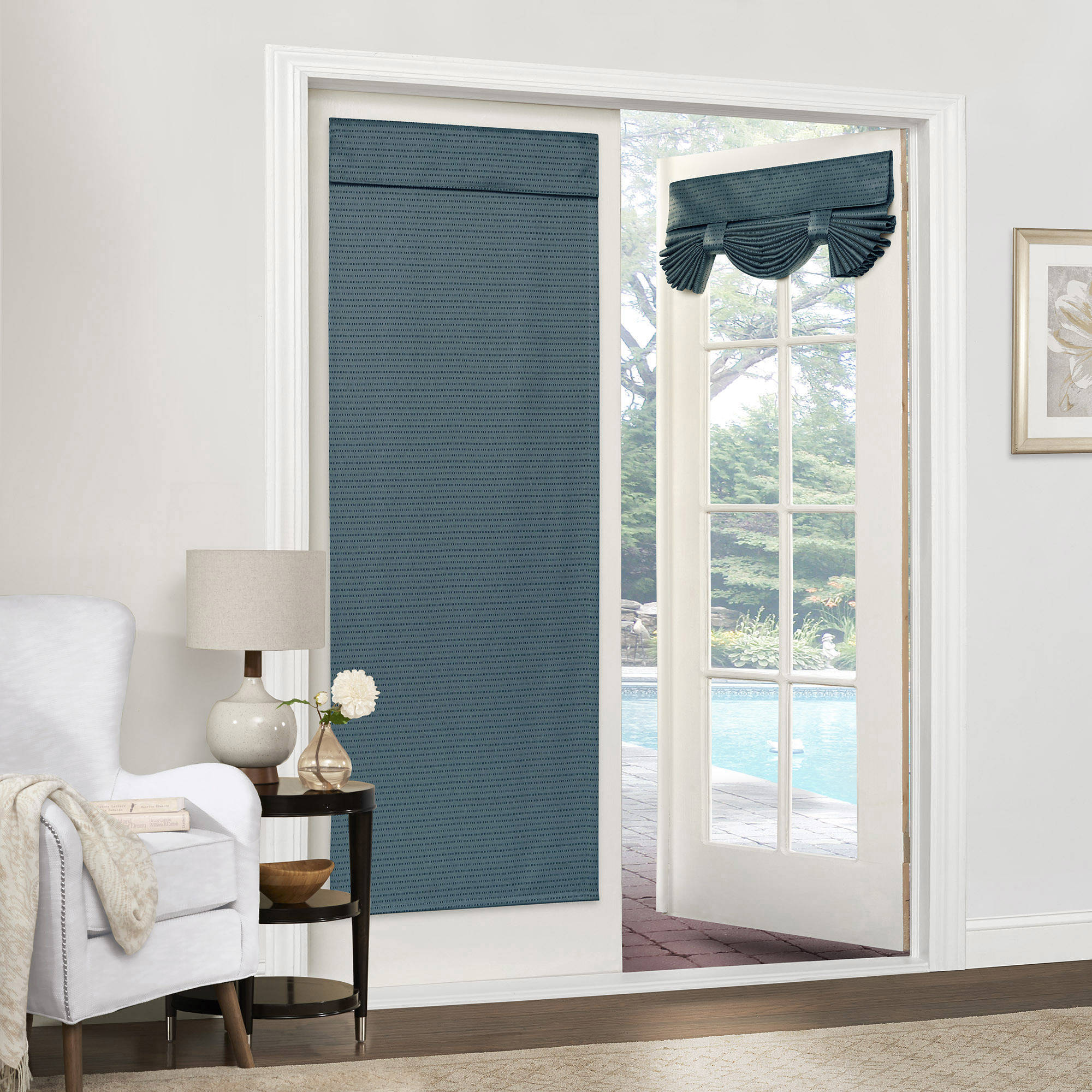 Mainstays Dotted Room Darkening French Door Panel Multiple Colors