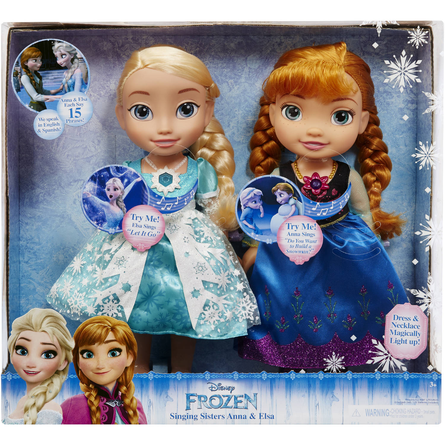 Disney Frozen Singing Sisters Elsa And Anna Dolls Exclusive Walmart Com Walmart Com