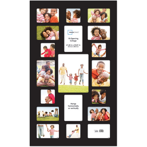 Mainstays 19 Opening Collage Frame Black