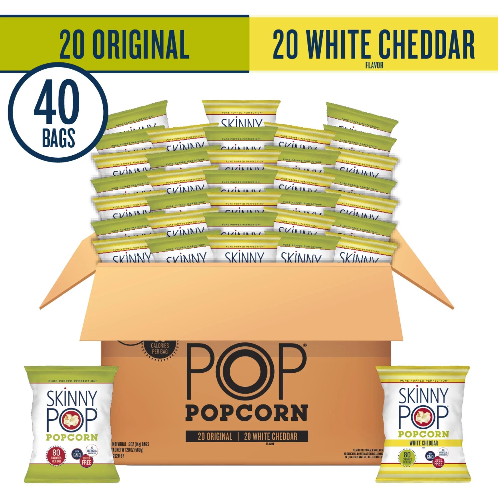 skinnypop sea salt microwave popcorn gluten free 6 ct 2 8 oz