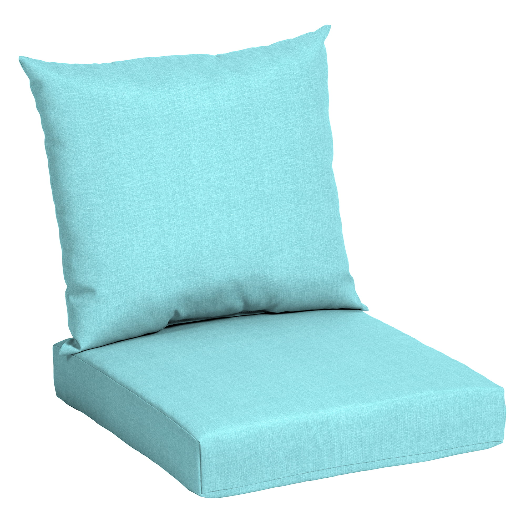 mainstays teal 45 x 22 75 in outdoor patio deep seat cushion set