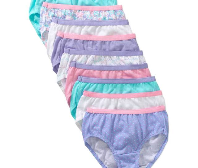 Girls Assorted No Ride Up Comfortsoft Cotton Briefs  Pack