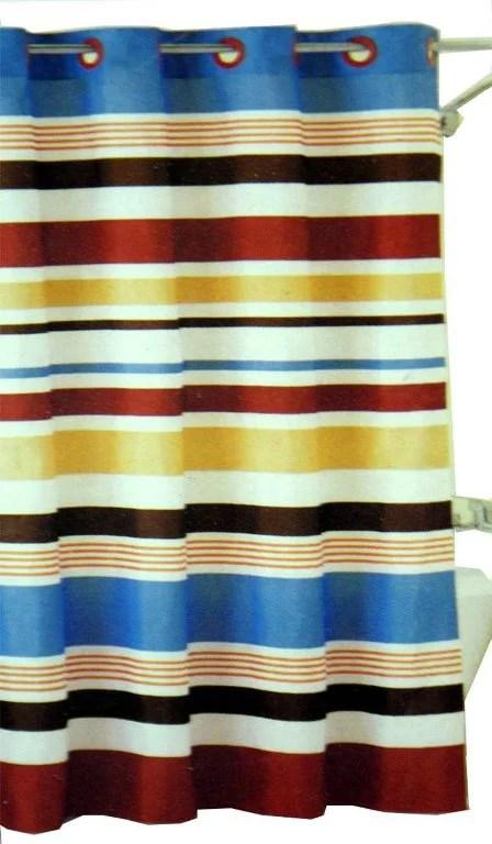 century stripe hookless fabric shower curtain