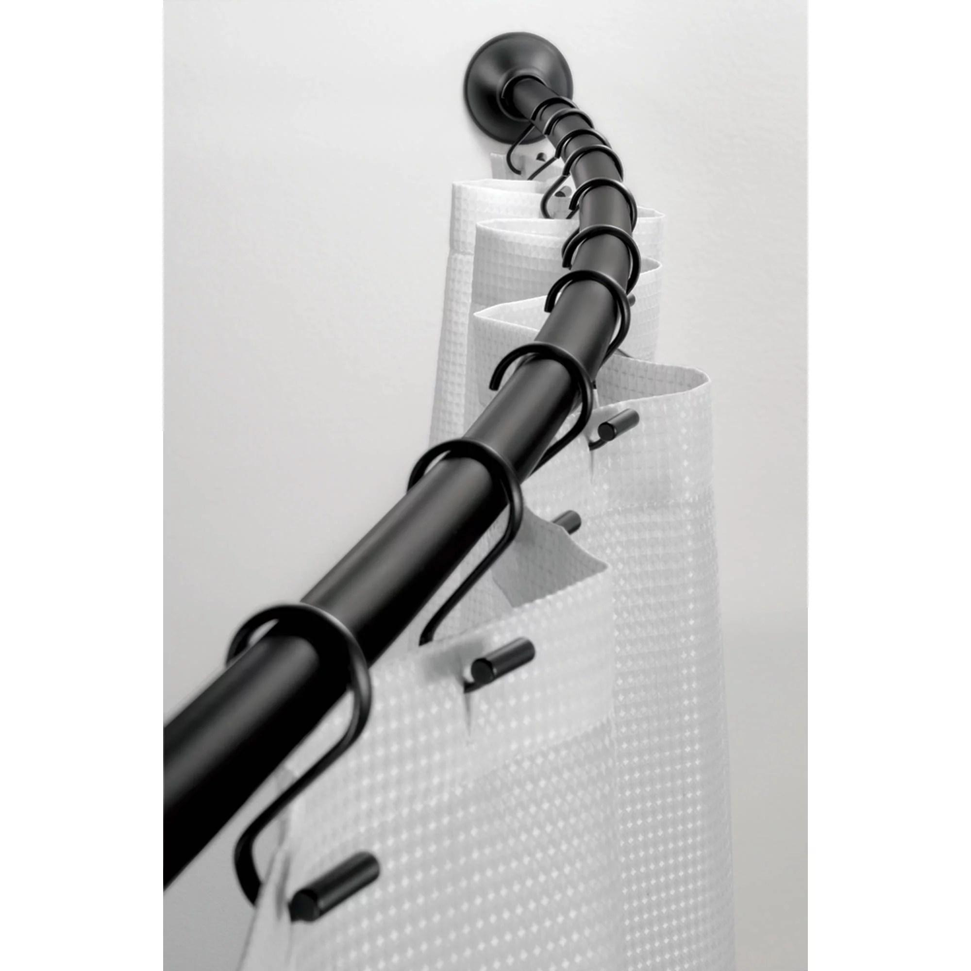 interdesign curved shower curtain rod matte black walmart com