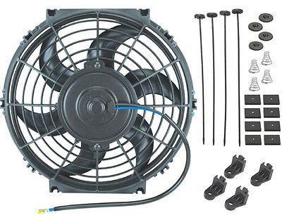 american volt 10 inch electric slim fan automotive radiator high 1500 cfm performance cooling