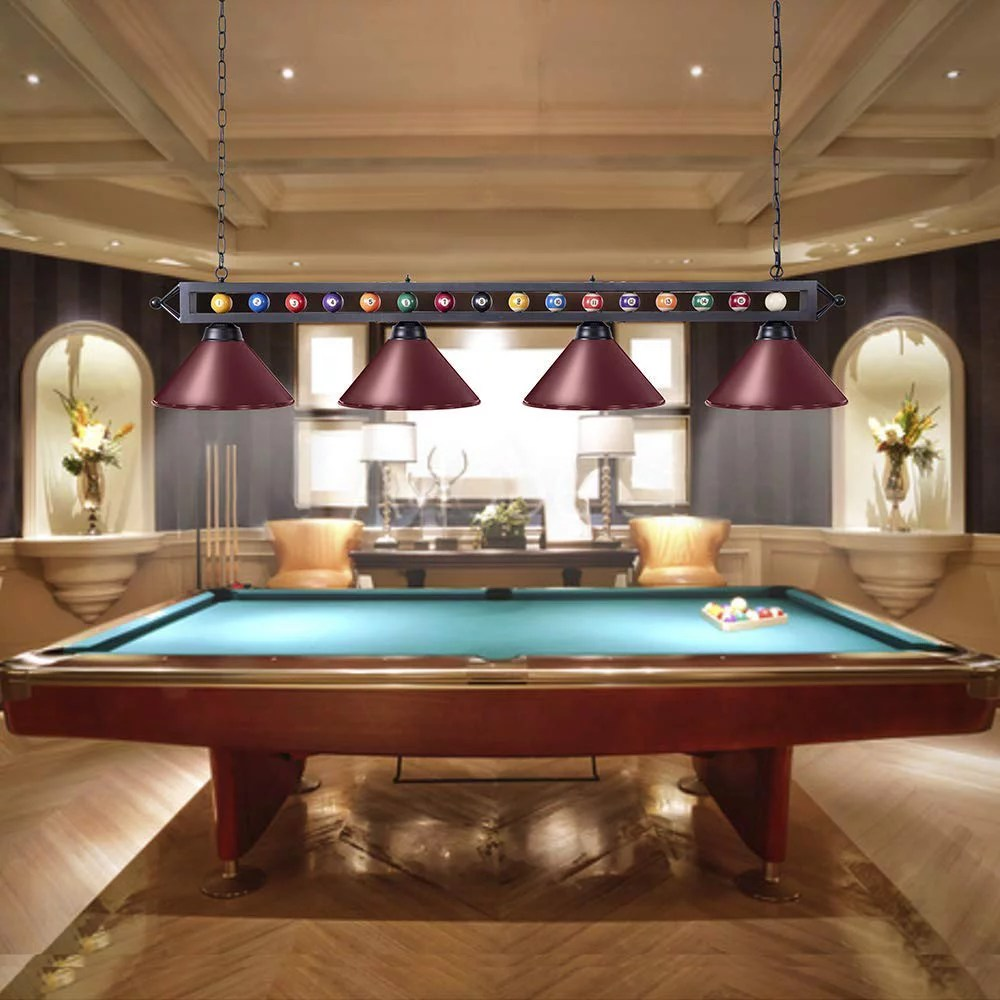 70 hanging pool table light fixture for game room beer party ball design metal billiards light with 3 lamp shades suitable for 7 10 foot pool