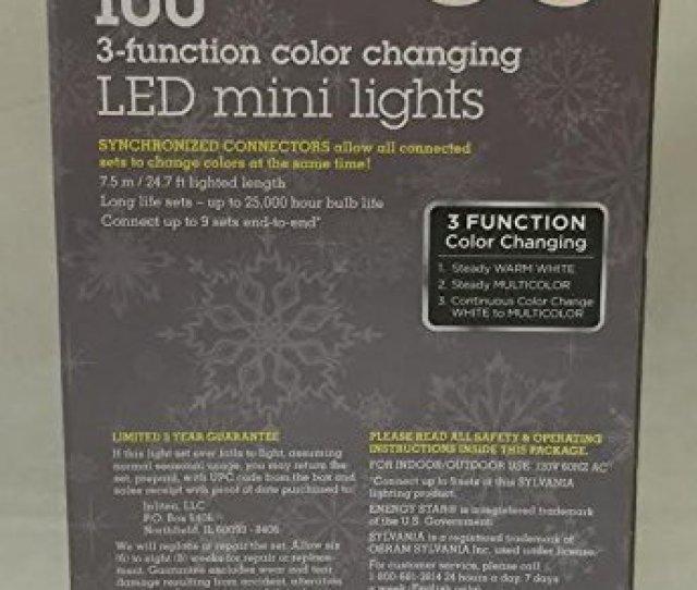 Stay Lit Platinum  Color Changing Led Mini Lights Warm White Multi Color Walmart Com