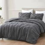 Cozybeddings Mari Ultra Soft Stone Washed Comforter Set Charcoal Grey Full Walmart Com Walmart Com
