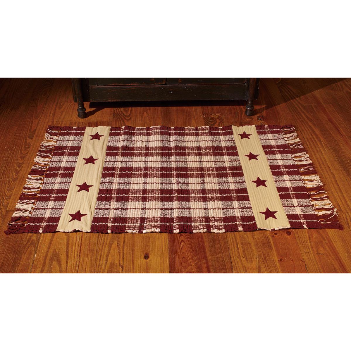 primitive farmhouse star country cotton woven rug on farmhouse colors for bath mats walmart id=31298