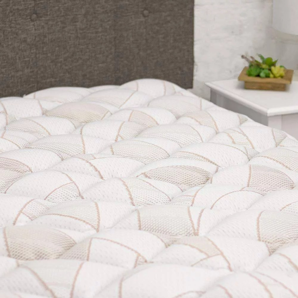 copper infused mattress pad extra plush pillow top mattress topper