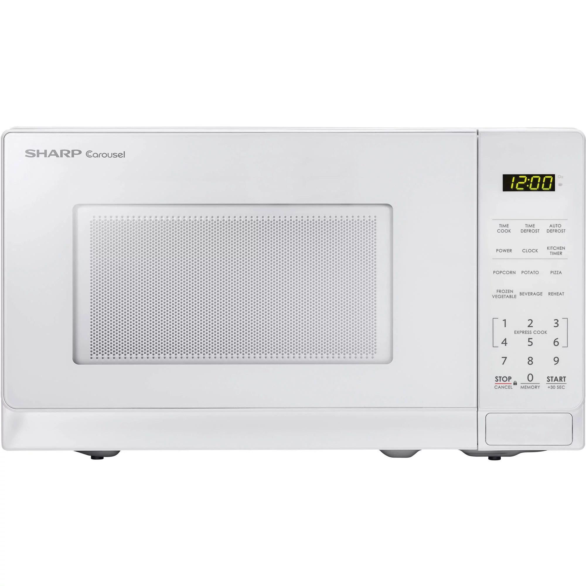 sharp zsmc0710bw 7 cu ft microwave white