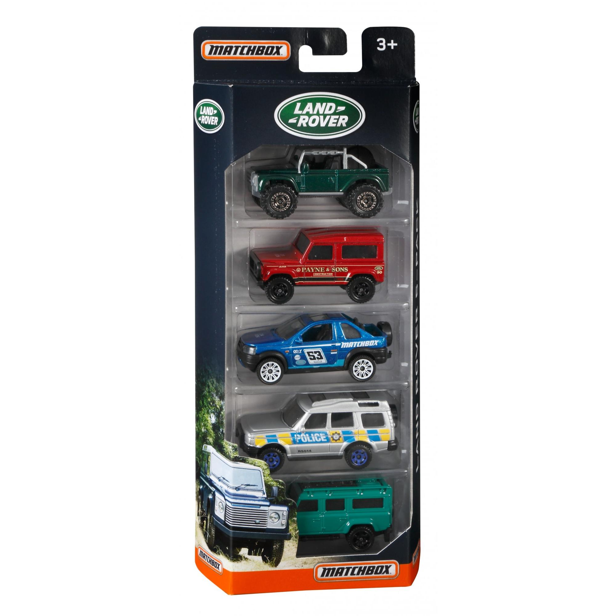 Matchbox Land Rover 5 Pack Walmart